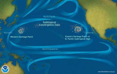 Vortex de déchets dans le Pacifique nord